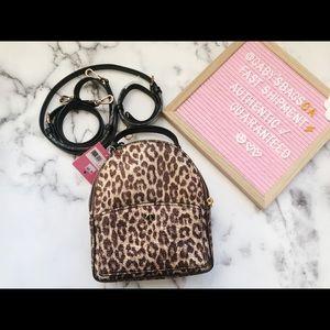 Kate Spade leopard convertible backpack
